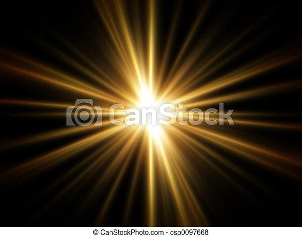 Rayos de luz dorada - csp0097668