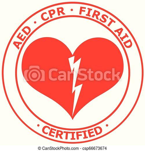 RCP de primeros auxilios certificados de primeros auxilios - csp66673674