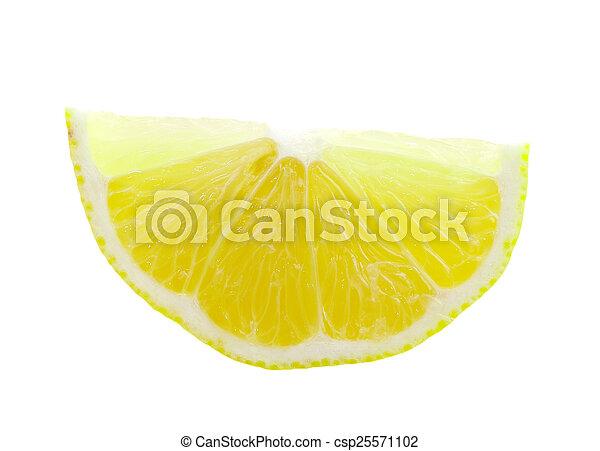 Rebanada de limón - csp25571102