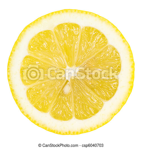 Rebanada de limón - csp6040703