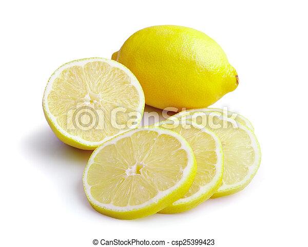 Rebanada de limón - csp25399423