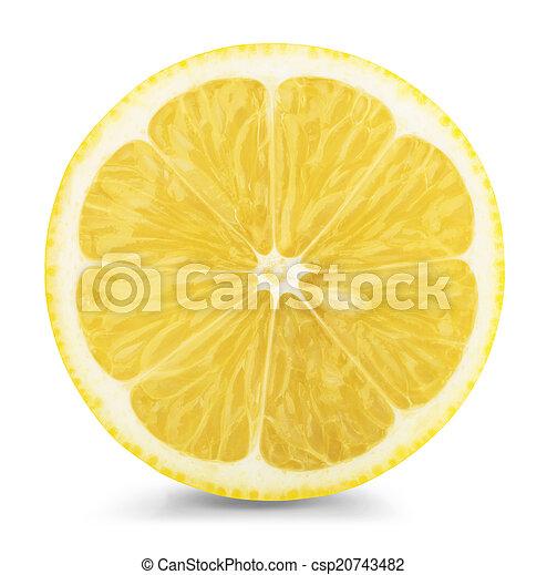 Rebanada de limón - csp20743482