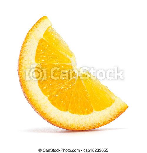 Rebanada de naranja - csp18233655