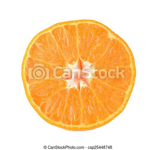 Rebanada de naranja - csp25448748