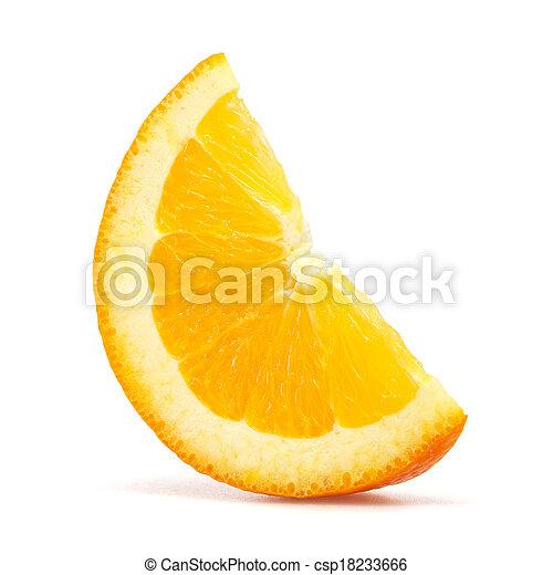 Rebanada de naranja - csp18233666