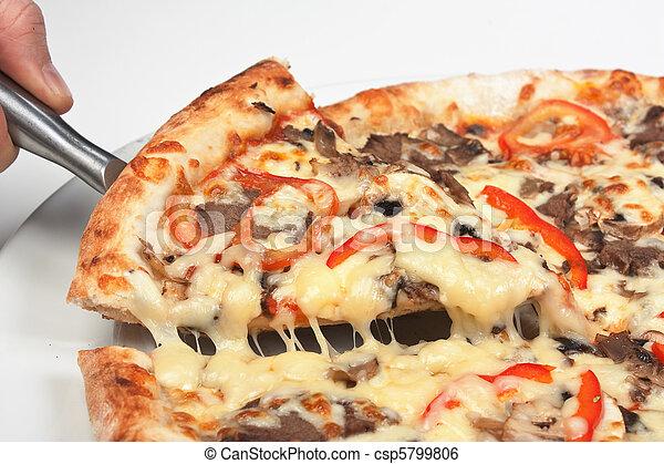 Rebanada de pizza - csp5799806