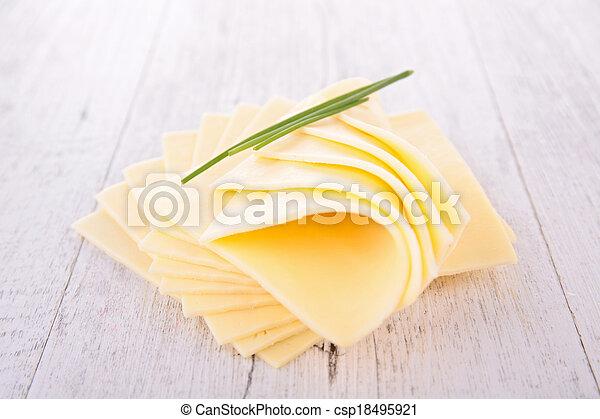 Rebanada de queso - csp18495921