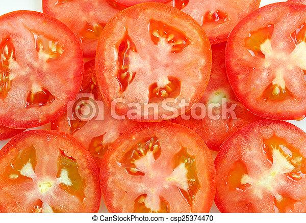 Rebanada de tomate - csp25374470