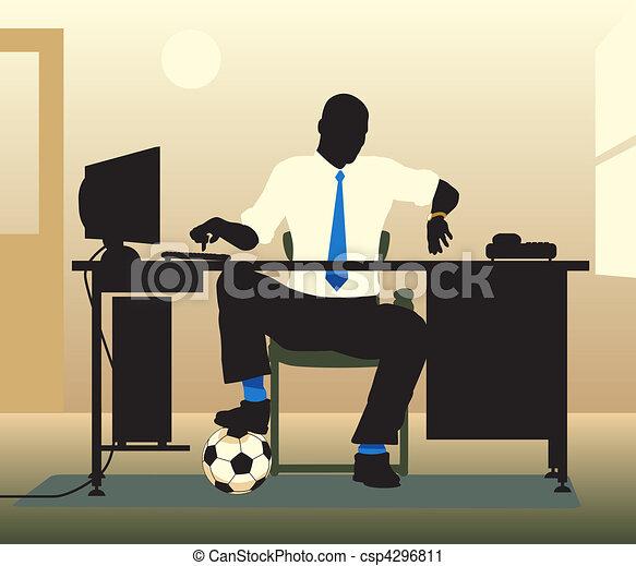 Recepción de fútbol - csp4296811