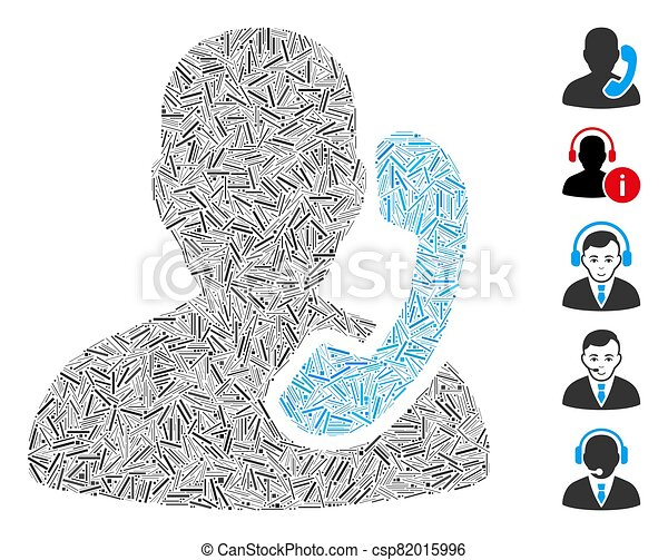 recepción, icono, collage, arranque - csp82015996