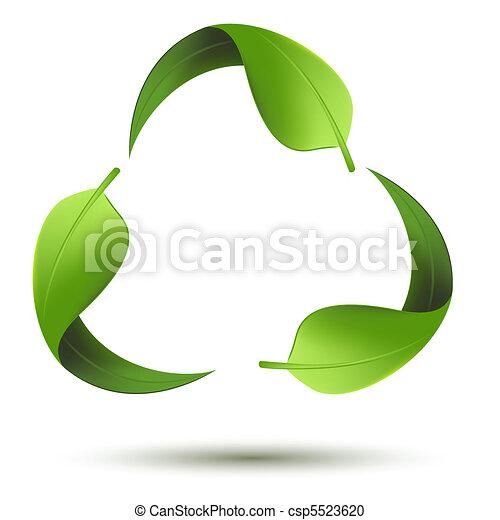 Simbolo reciclado con hojas - csp5523620