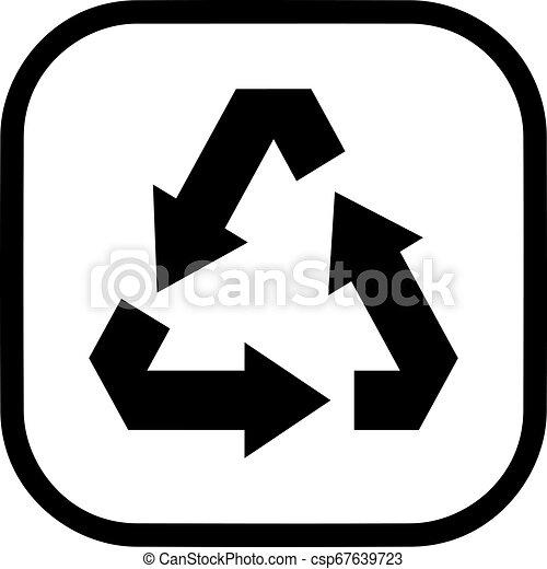 Vector de símbolo reciclado - csp67639723
