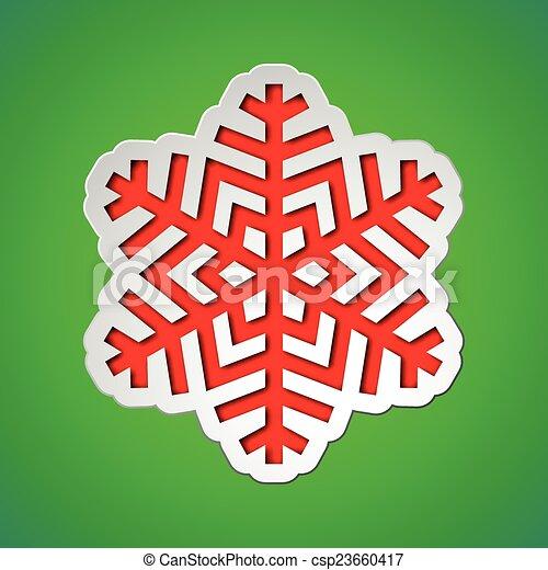 Corta el copo de nieve de Navidad - csp23660417