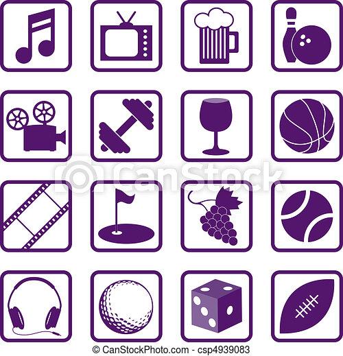 iconos de recreación - csp4939083