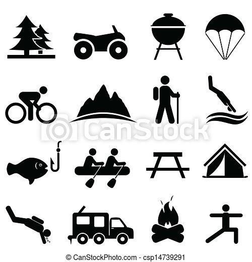 El ocio y los iconos de la recreación - csp14739291