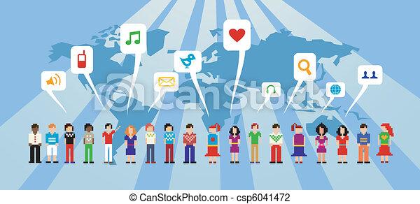 Red de medios sociales - csp6041472