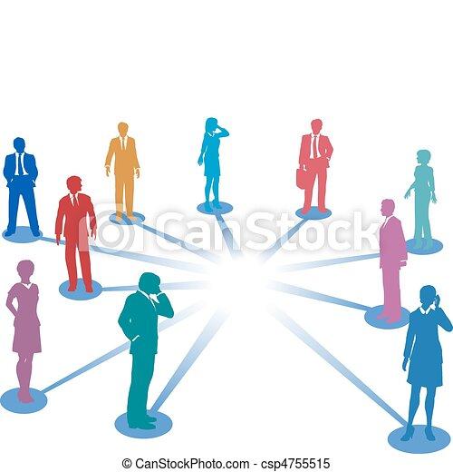 Conectar a la gente de la red de contactos copiar el espacio - csp4755515