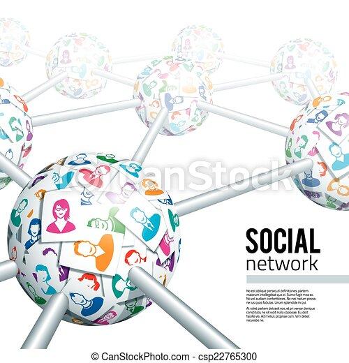 Red social - csp22765300