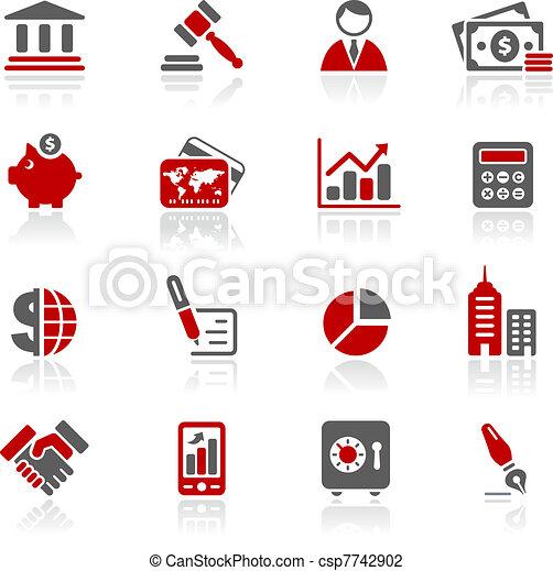 iconos de negocios y finanzas / redico - csp7742902