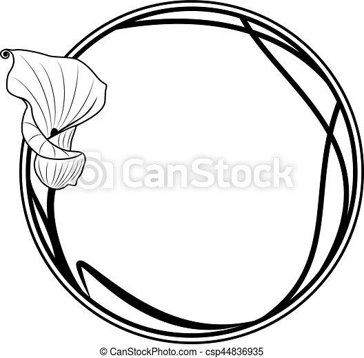 Encuadre redondo con Lily - csp44836935