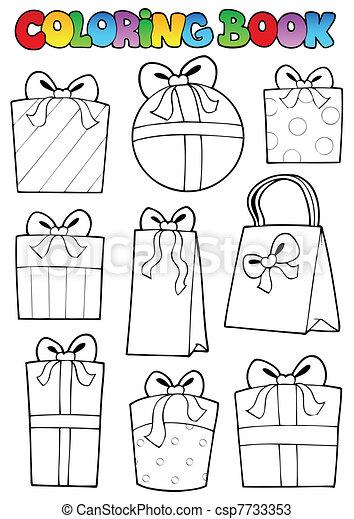 Libro de color varios regalos - csp7733353