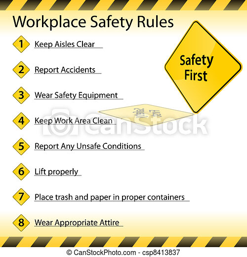 Reglas de seguridad del lugar de trabajo - csp8413837