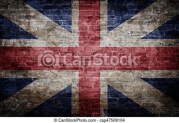 Bandera del Reino Unido - csp47509104