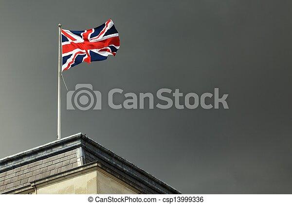 Una bandera del Reino Unido - csp13999336