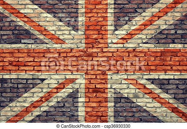 Bandera del Reino Unido - csp36930330