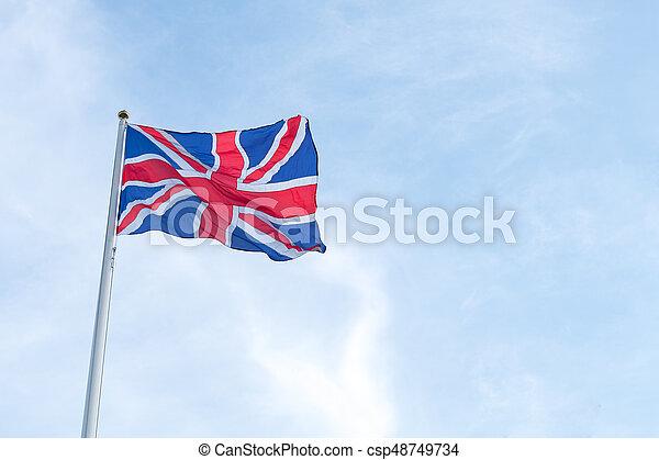 Bandera del Reino Unido - csp48749734