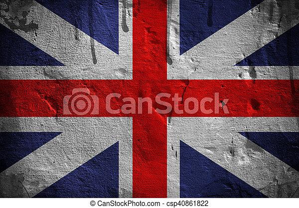 Bandera del Reino Unido - csp40861822