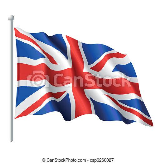 Bandera del reino unido - csp6260027