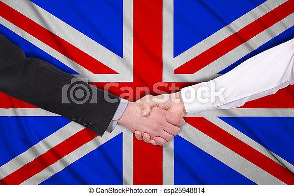 Bandera del Reino Unido - csp25948814