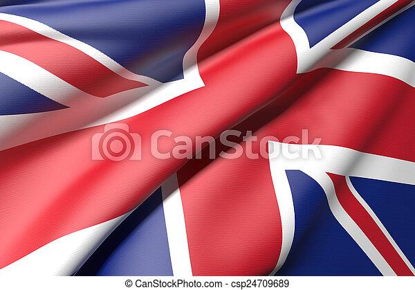 Bandera del Reino Unido - csp24709689