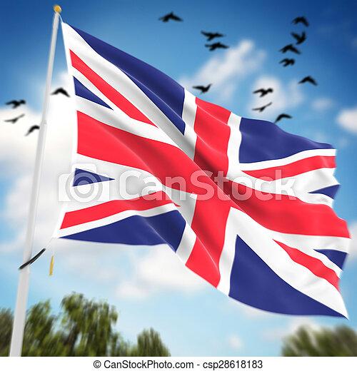 Bandera del Reino Unido - csp28618183