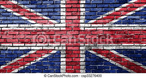 Bandera del Reino Unido. - csp33276400
