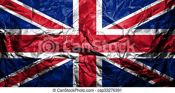 Bandera del Reino Unido. - csp33276391