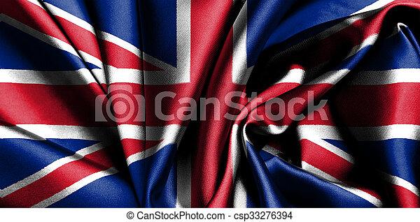 Bandera del Reino Unido. - csp33276394