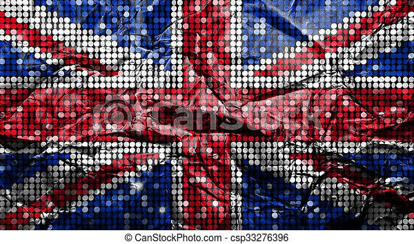 Bandera del Reino Unido. - csp33276396