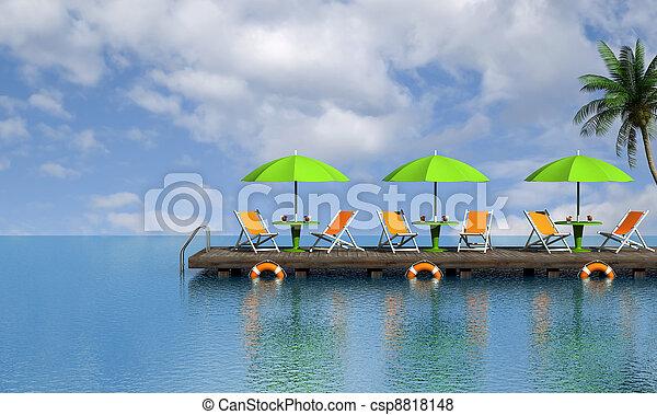 Relajamiento tropical - csp8818148