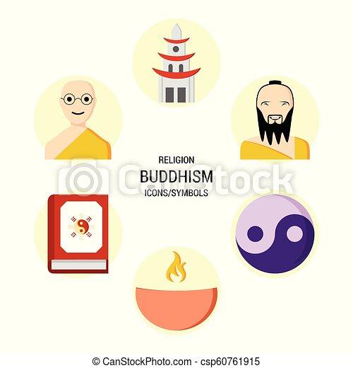 Los iconos religiosos marcan vector - csp60761915
