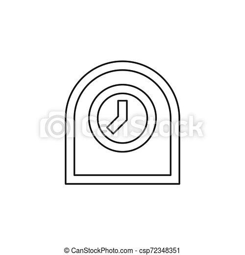 Icono de reloj de mesa, ilustración de alarma del temporizador - csp72348351