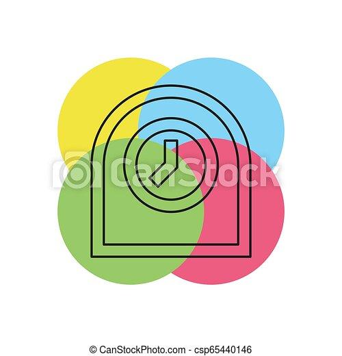 Icono de reloj de mesa, ilustración de alarma del temporizador - csp65440146
