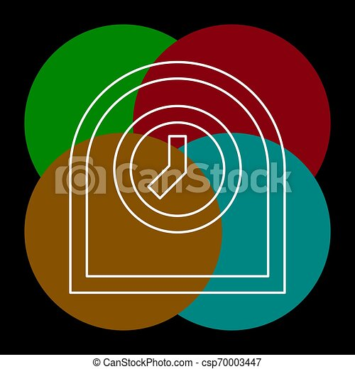 Icono de reloj de mesa, ilustración de alarma del temporizador - csp70003447