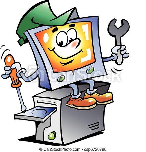 La mascota de reparación de computadoras - csp6720798
