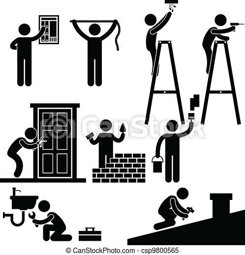 El símbolo de reparaciones de Handyman - csp9800565
