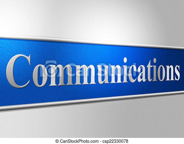La red de computadoras representa las comunicaciones globales y el chat - csp22330078