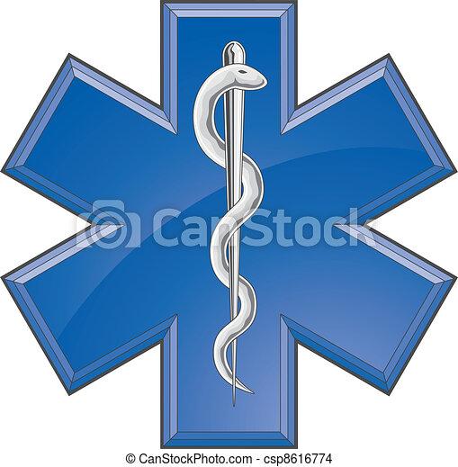 Rescate el logotipo médico - csp8616774