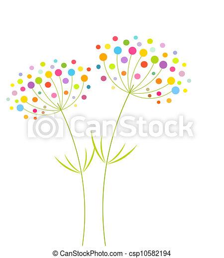 Flores abstractas - csp10582194