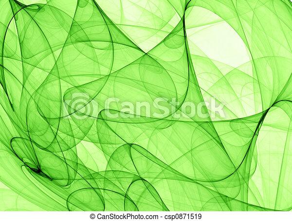 Un fondo abstracto verde - csp0871519